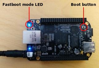 BeagleBone Black in fastboot mode